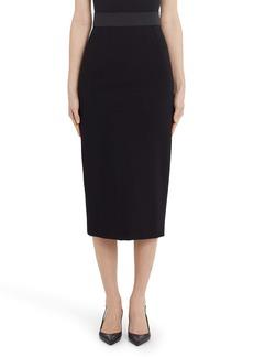 Dolce & Gabbana Dolce&Gabbana Stretchy Jersey Midi Pencil Skirt