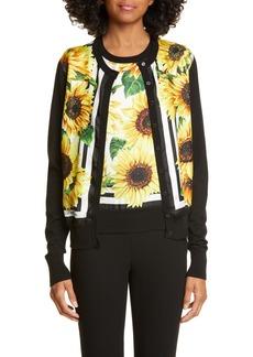 Dolce & Gabbana Dolce&Gabbana Sunflower Print Cardigan