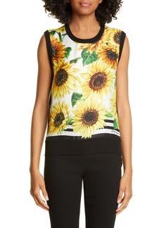 Dolce & Gabbana Dolce&Gabbana Sunflower Print Sweater Tank