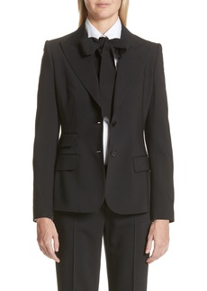 Dolce & Gabbana Dolce&Gabbana Two Button Stretch Wool Jacket