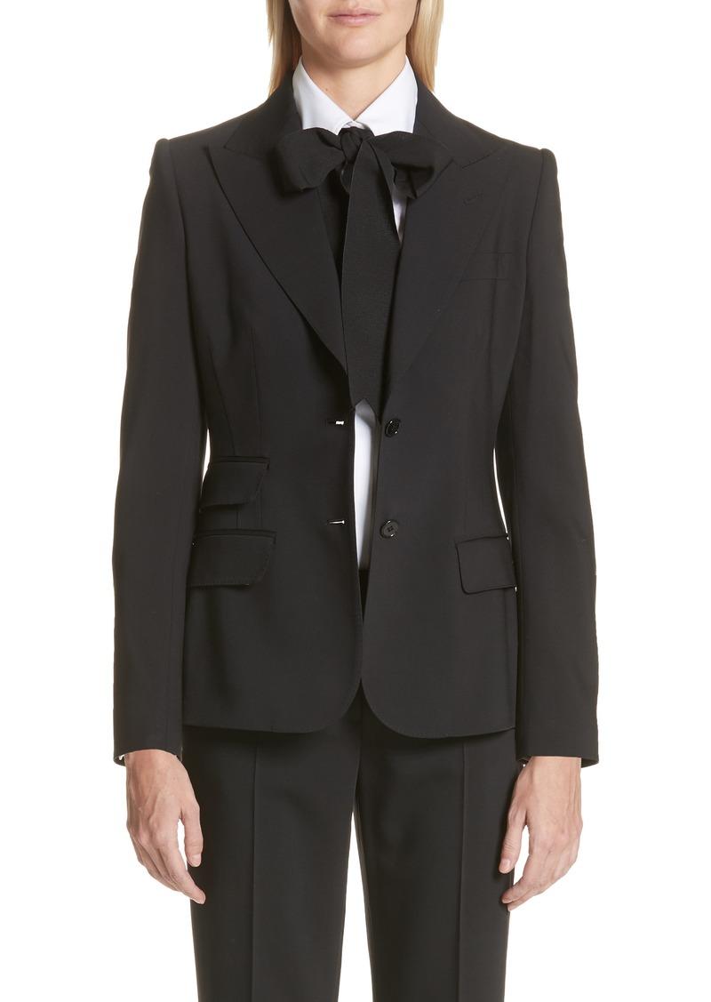 Dolce & Gabbana Dolce&Gabbana Two Button Stretch Wool Jacket