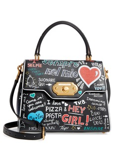 Dolce & Gabbana Dolce&Gabbana Welcome Graffiti Leather Satchel