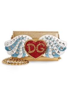 Dolce & Gabbana Dolce&Gabbana WOC Angel Patch Leather Clutch