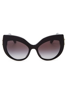 Dolce & Gabbana Dolce&Gabbana Women's Embellished Oversized Cat Eye Sunglasses, 58mm