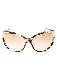 Dolce & Gabbana Dolce&Gabbana Women's Mirrored Oversized Cat Eye Sunglasses, 60mm