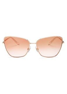 Dolce & Gabbana Dolce&Gabbana Women's Sicilian Sweet Mirrored Oversized Square Sunglasses, 62mm
