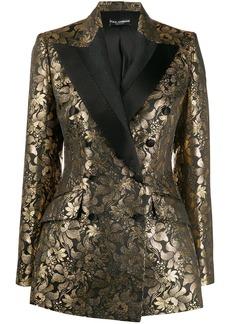 Dolce & Gabbana double-breasted jacquard blazer