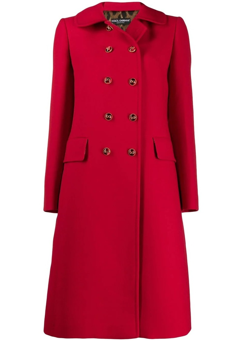 Dolce & Gabbana double breasted mid-length coat