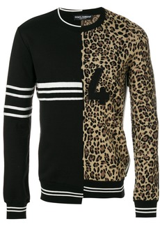 Dolce & Gabbana double design crew neck sweater