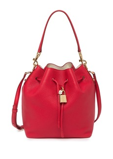 Dolce & Gabbana Drawstring Leather Bucket Bag