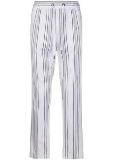 Dolce & Gabbana drawstring straight striped trousers