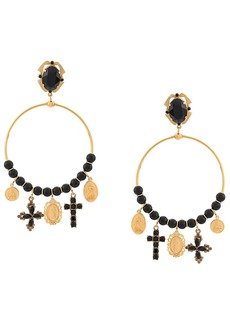 Dolce & Gabbana drop hoop earrings