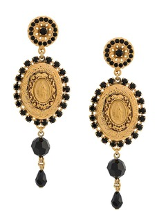 Dolce & Gabbana drop medallion earrings