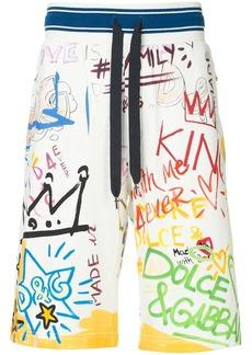 Dolce & Gabbana Dubai graffiti printed swim shorts