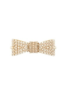 Dolce & Gabbana embellished bow-shaped brooch