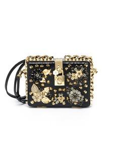 Dolce & Gabbana Embellished Crocodile & Ayers Box Clutch