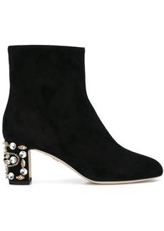 Dolce & Gabbana embellished heel ankle boots