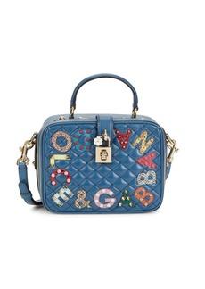 Dolce & Gabbana Embellished Logo Appliqué Leather Camera Bag