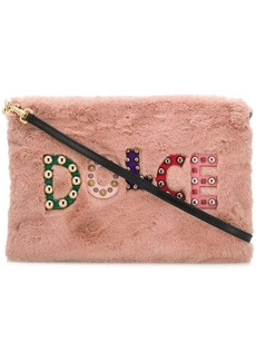 Dolce & Gabbana embellished logo clutch bag