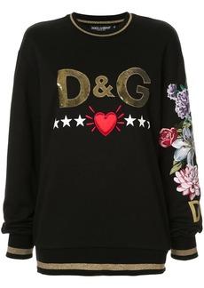 Dolce & Gabbana embellished logo sweatshirt