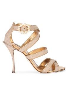 Dolce & Gabbana Embellished Metallic Sandals