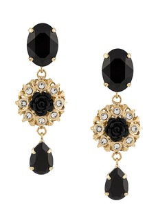 Dolce & Gabbana embellished rose pendant earrings