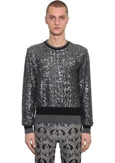 Dolce & Gabbana Embellished Techno Knit Sweater