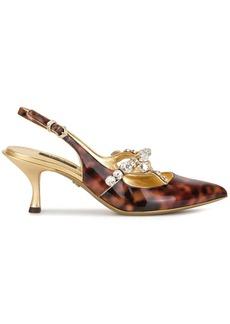 Dolce & Gabbana tortoiseshell crystal embellished pumps