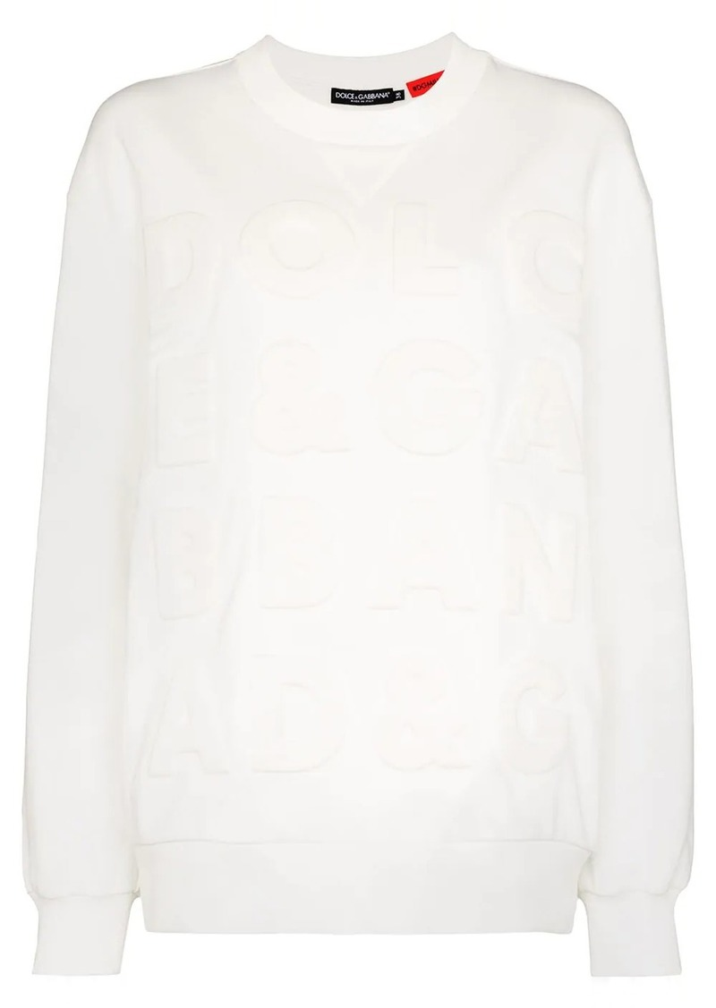 Dolce & Gabbana embossed logo cotton sweater