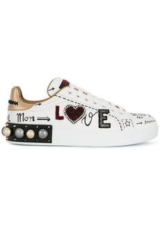 Dolce & Gabbana embroidered appliqué sneakers