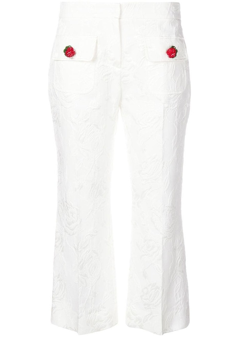 Dolce & Gabbana embroidered floral cropped trousers