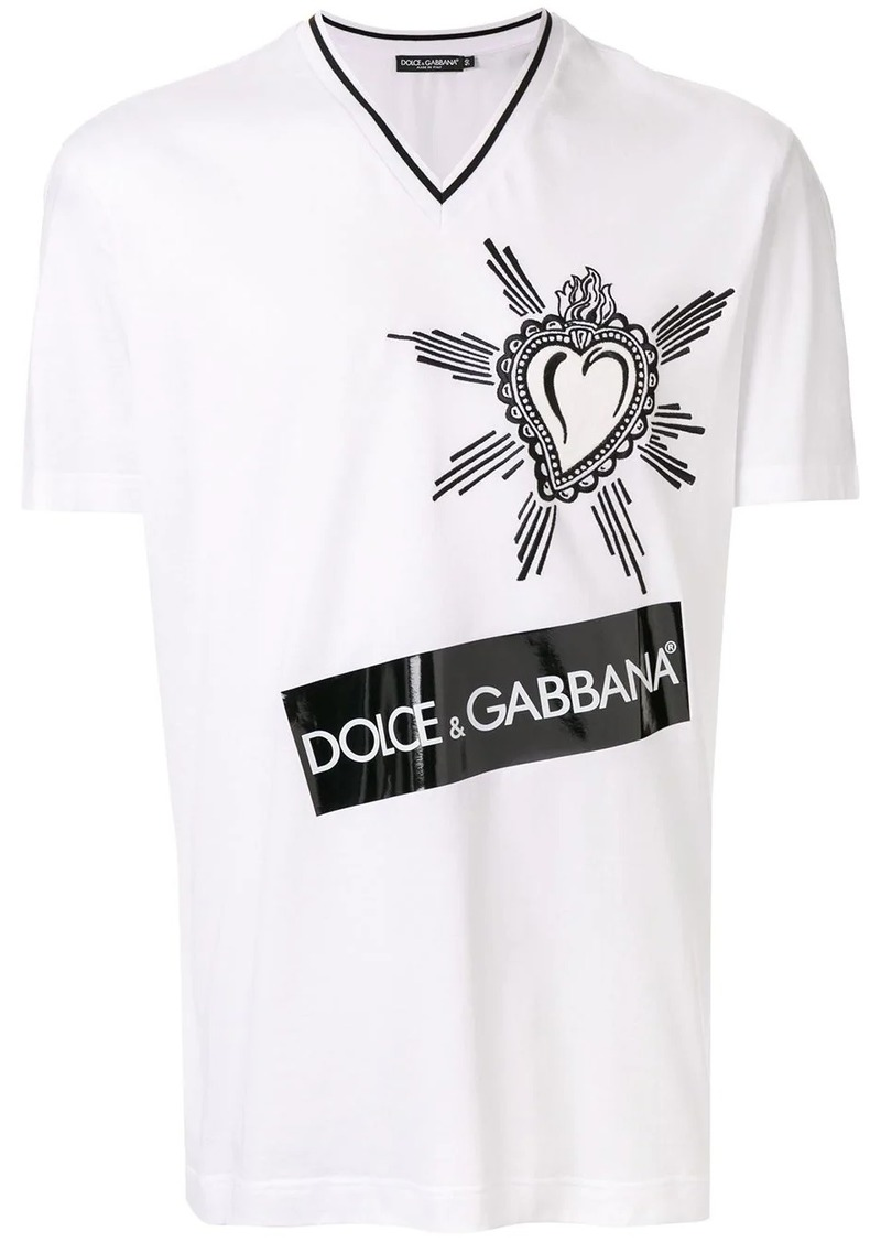 Dolce & Gabbana embroidered heart logo T-shirt