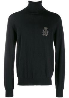 Dolce & Gabbana embroidered logo roll-neck sweater