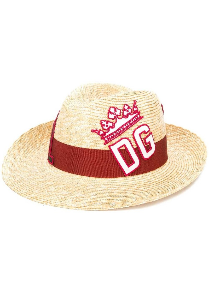 Dolce & Gabbana embroidered logo sun hat