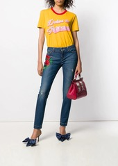 Dolce & Gabbana embroidery skinny-fit jeans