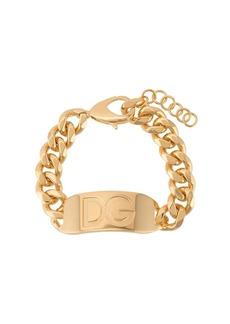 Dolce & Gabbana engraved logo link chain bracelet