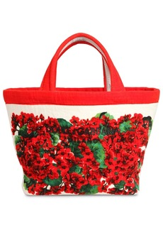 Dolce & Gabbana Escape Printed Cotton Terry Tote Bag