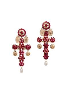 Dolce & Gabbana Family cross clip-on earrings