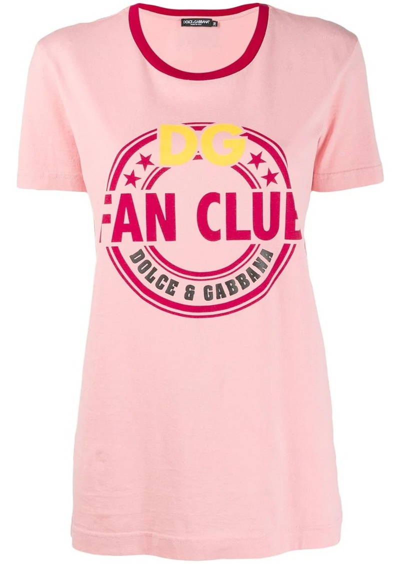 Dolce & Gabbana Fan Club print T-shirt