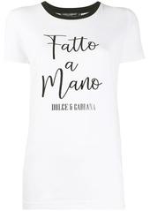 Dolce & Gabbana Fatto a Mano print T-shirt