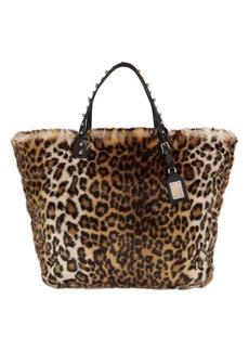 Dolce & Gabbana Faux Fur Leopard Shopper Tote
