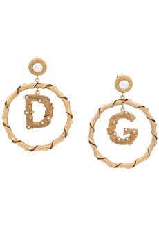 Dolce & Gabbana faux pearl embellished pendant earrings