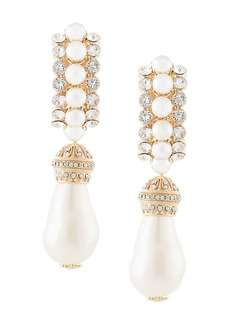 Dolce & Gabbana faux-pearl pendant clip-on earrings