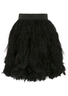 Dolce & Gabbana feather appliqué mini skirt