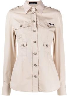 Dolce & Gabbana fitted pocket shirt