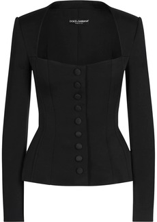 Dolce & Gabbana fitted sweetheart neck jacket