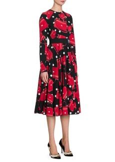 Dolce & Gabbana Flared Handbag Print Dress