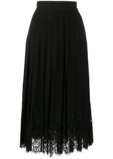 Dolce & Gabbana flared lace-hem skirt
