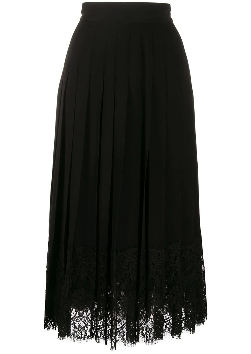 Dolce & Gabbana flared lace-hem skirt