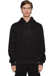 Dolce & Gabbana Flocked Logo Cotton Blend Hoodie